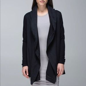 Lululemon Gray Blissed Out Tencel Wrap Cardigan JL